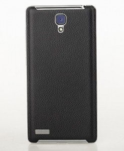 RedMi Note Matte Leather Back Cover Black