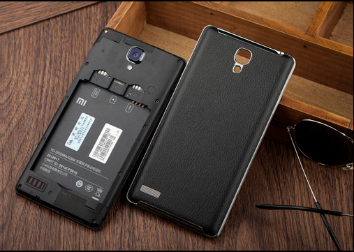 redmi note back cover leather