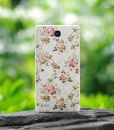 Redmi note 3D painted back cover floral