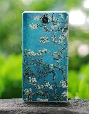 Redmi note 3D painted back cover floral 2