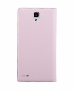 redmi note flip case back pink