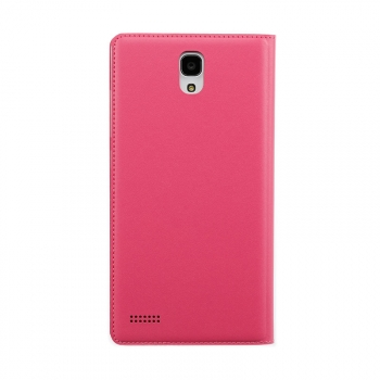 redmi note flip case back rose pink