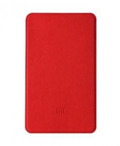 5000mah Xiaomi powerbank  microfiber protective case Red