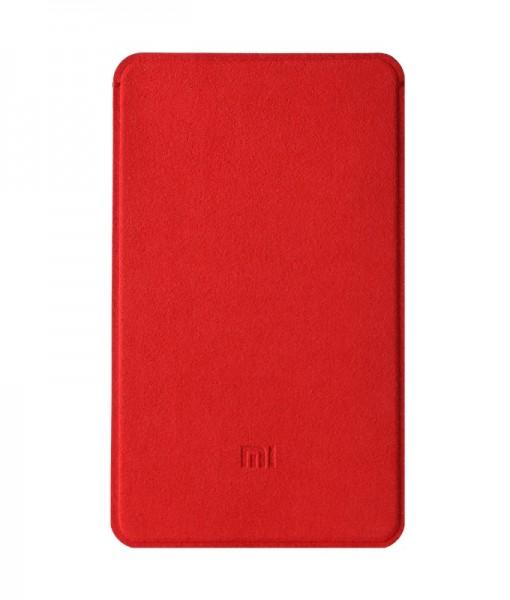 5000mah Xiaomi powerbank  microfiber protective case Red